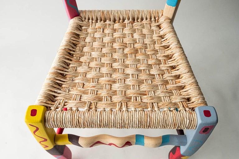 Italian Hand Painted Ashwood Chair