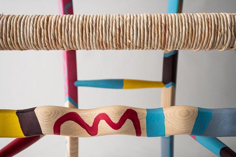 Rope Italian Hand Painted Ashwood Chair