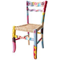 "Italian Hand Painted Ashwood Chair ""a Signurina - Taormina"" by MYOP"
