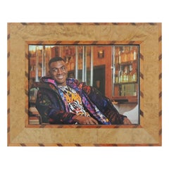 Italian Handcrafted Inlaid Wood Picture Frame