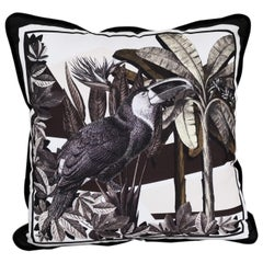"""Italian Handmade Contemporary Style, """"Black and Wild"""" Collection Pillow Set of 4"""