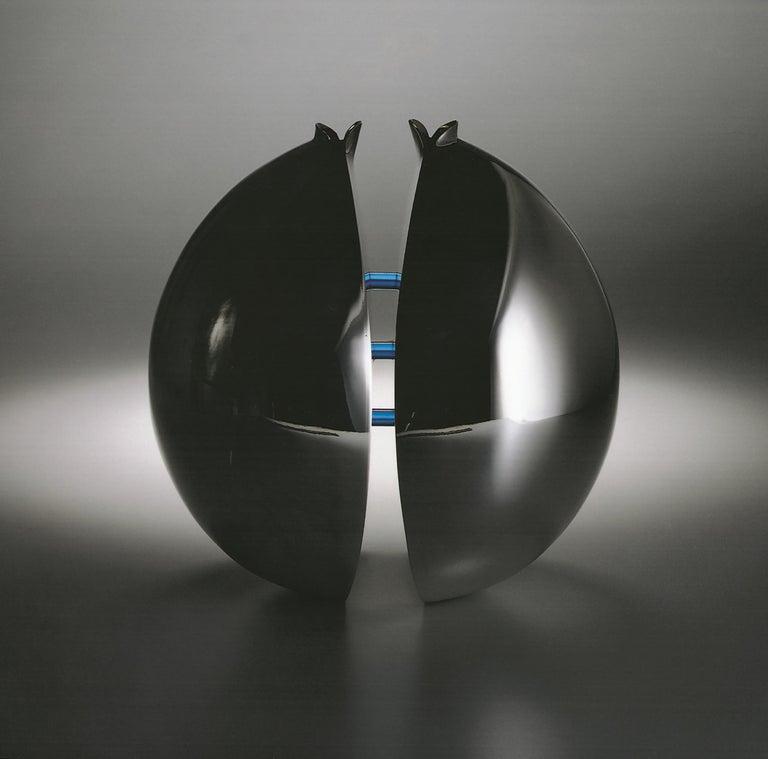 Italienische Moderne Handmade Vase Versilbert