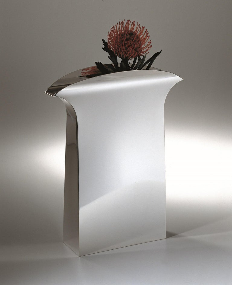 Italienische Handarbeit Moderne Versilberte Vase