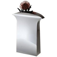 """Italienische Handarbeit Moderne Versilberte Vase """"Papeete"""" von G. Malimpensa für Mesa"""