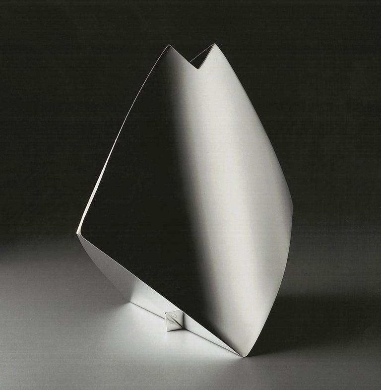Italienische Handgemachte Moderne Versilberte Vase