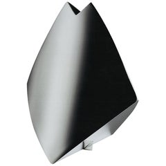 """Italienische Handgemachte Moderne Versilberte Vase """"Shark"""" von G. Malimpensa für Mesa"""