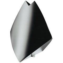"Italian Handmade Modern Silver Plated Vase ""Shark"" by G. Malimpensa for Mesa"