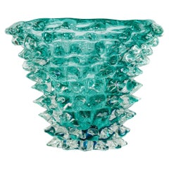 Italian Handmade Murano Glass Vase, Signed Camozzo