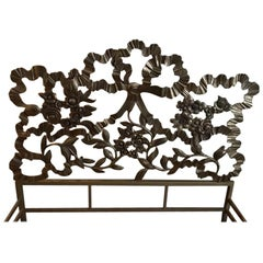 Italian Headboard in Bronze, 1960s