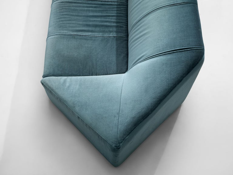 Mid-Century Modern Italian Hexagonal Shaped Sofa For Sale