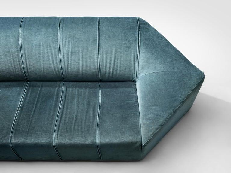 Upholstery Italian Hexagonal Shaped Sofa For Sale