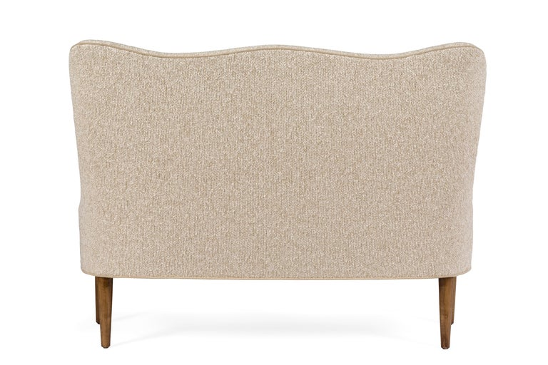 Italian High Back Bench/Settee by Lost City Arts For Sale 1