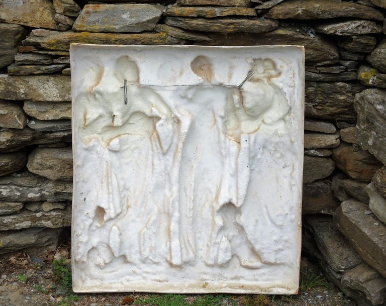 Italian High-Relief Wall Plaque, Roman Influence, Large Molded Fiberglass, 1955 For Sale 6