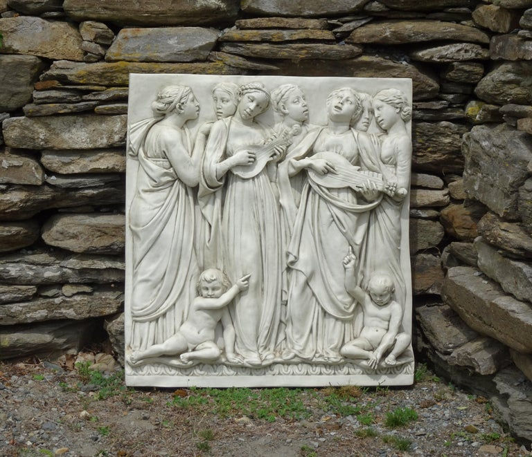 Italian High-Relief Wall Plaque, Roman Influence, Large Molded Fiberglass, 1955 For Sale 7