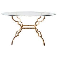 Italian Hollywood Regency Gilt Iron Dining or Centre Table