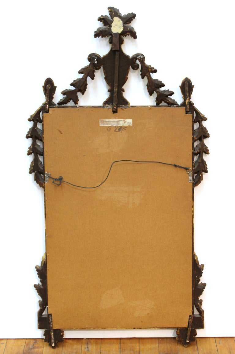 Italian Hollywood Regency Gilt Wall Mirror For Sale 3