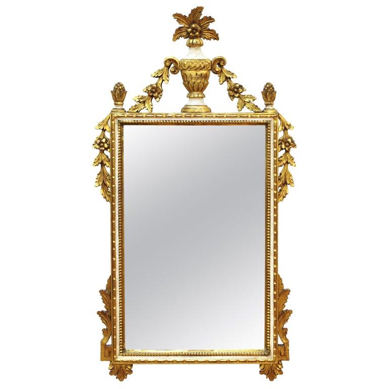 Italian Hollywood Regency Gilt Wall Mirror For Sale