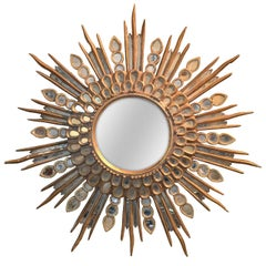 Italian Hollywood Regency Sunburst Mirror, circa 1940