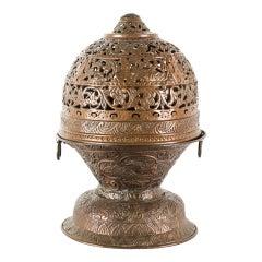Italian Incense Burner Embossed Copper, Venice, 17th Century Baroque Italy Metal