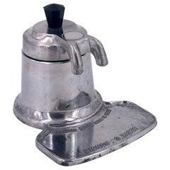 Italian Industrial Design Espresso Machine Stove Top Double Cup by Brevetto