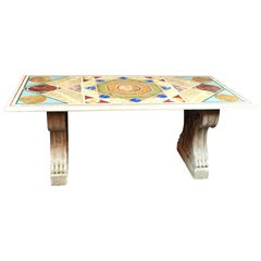 Italian Inlaid Marble Table
