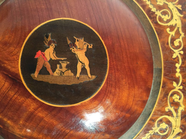 Italian Inlaid Neoclassical Musical Jewelry Box For Sale 3