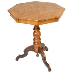Italian Inlaid Octagonal Occasional Table