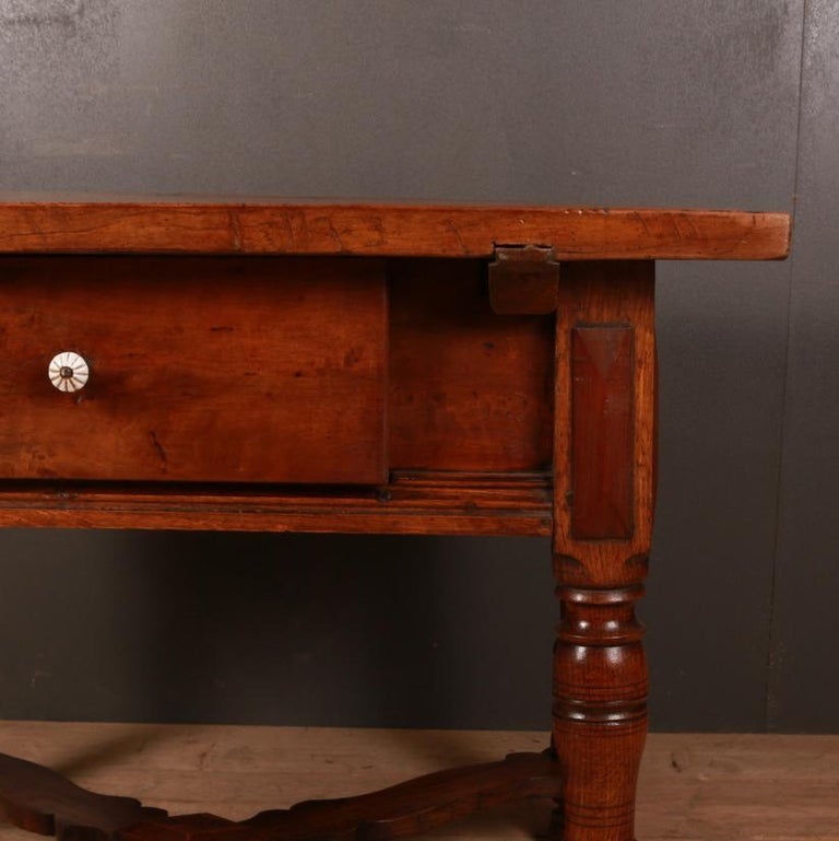 Unusual antique inlaid walnut centre table. Inlaid hearts in the top, 1840  Dimensions: 43.5 inches (110 cms) wide 34.5 inches (88 cms) deep 32 inches (81 cms) high.