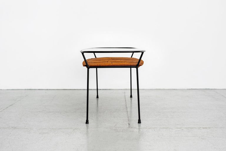 Italian Iron and Bamboo Coffee Table For Sale 3