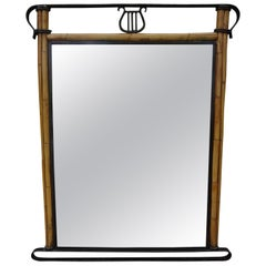 Italian Iron and Bamboo Mirror
