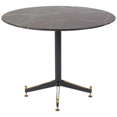Italian Iron and Brass Center Table Attributed to Ignazio Gardella