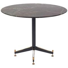 Italian Iron and Brass Center Table Attributed to Ignazio Gardella