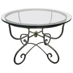 Italian Iron Center Table Style of Alberto Orlandi