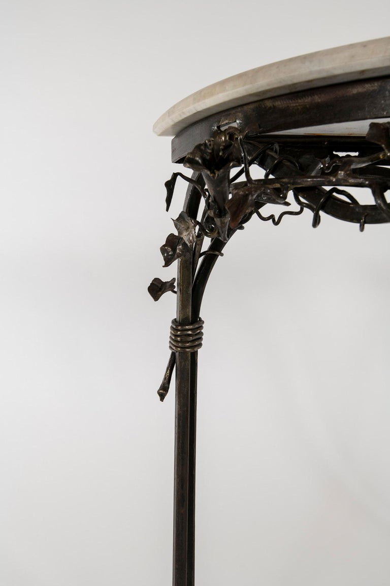 Italian Iron Console with Marble Top For Sale 2