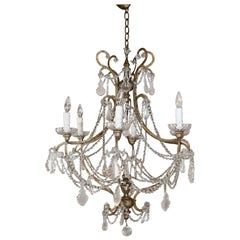 Italian Iron Crystal Chandelier