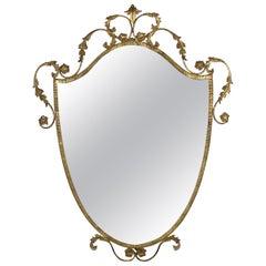Italian Iron Gilt Mirror by Pier Luigi Colli, 1950s