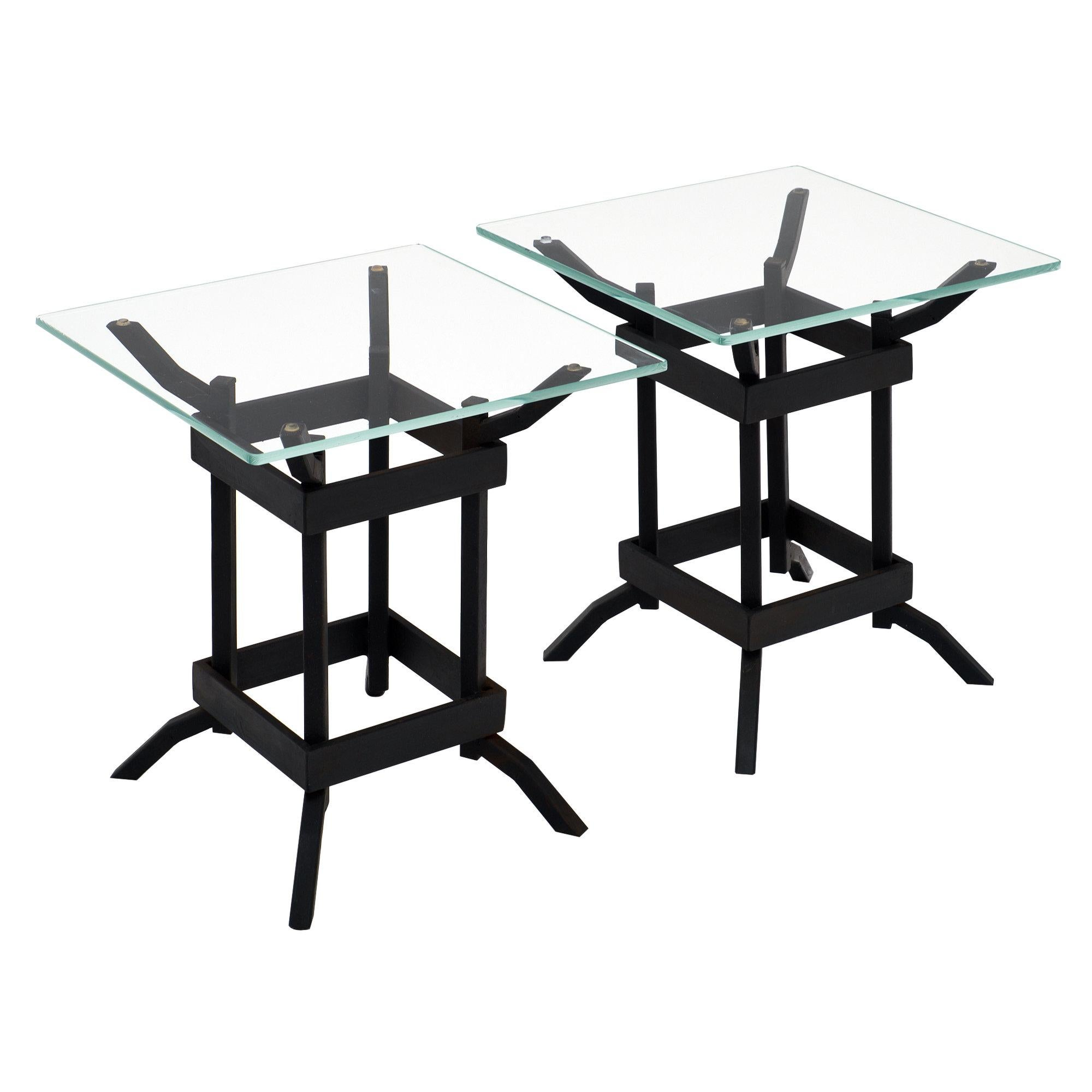 Italian Iron Vintage Side Tables