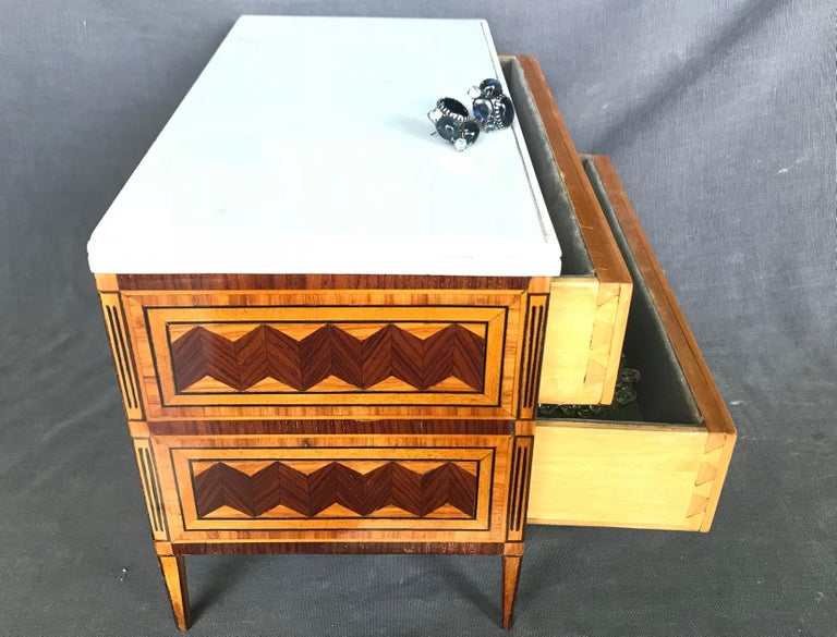 Neoclassical Italian Jewelry Box For Sale