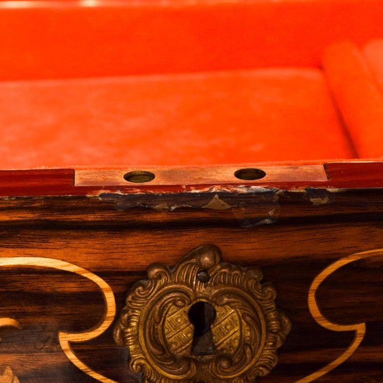 Hollywood Regency Italian Jewelry Decorative Wood Box