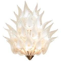 Italian Kalmar Glass Chandelier Vintage
