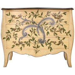 Italian Lacquered and Painted Chest of Drawers, 20th Century
