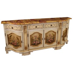 Italian Lacquered, Painted and Gilded Sideboard, 20th Century