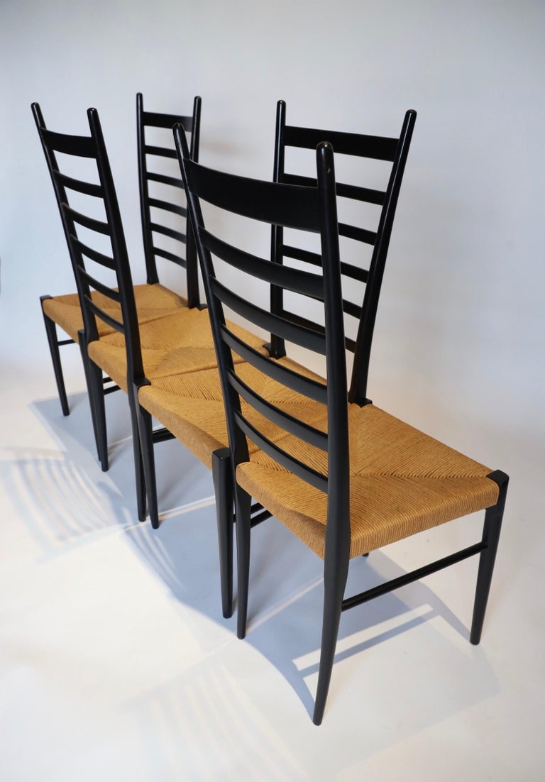 Italian Ladder Back Dining Chairs For Sale 9