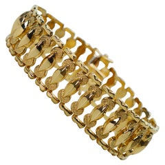 Italian Ladder Chain Yellow Gold Bracelet