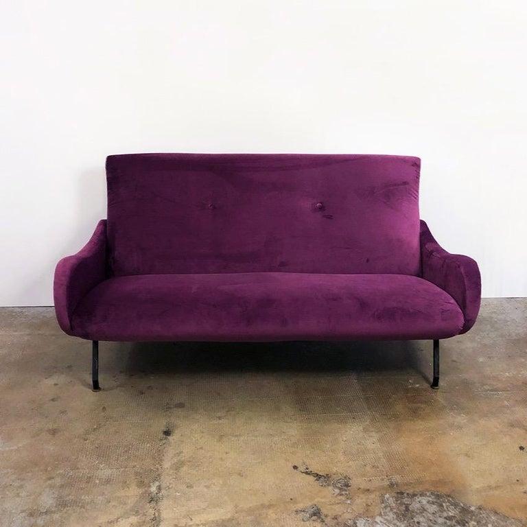 Lady Style Aubergine Purple Velvet Sofa