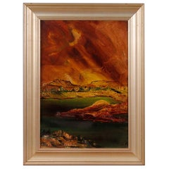 Italian Landscape Painting in Impressionist Style from 20th Century