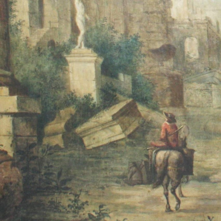 Neoclassical Italian Landscape Painting, 18th Century For Sale