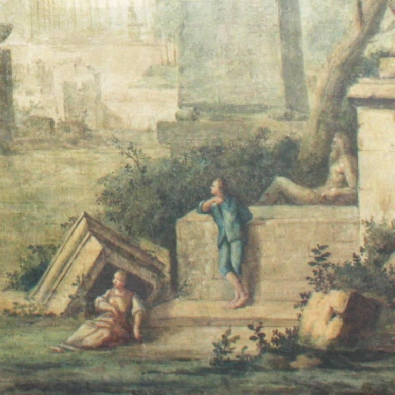 Italian Landscape Painting, 18th Century In Good Condition For Sale In Greding, DE