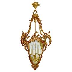 Italian Gilt Bronze Lantern