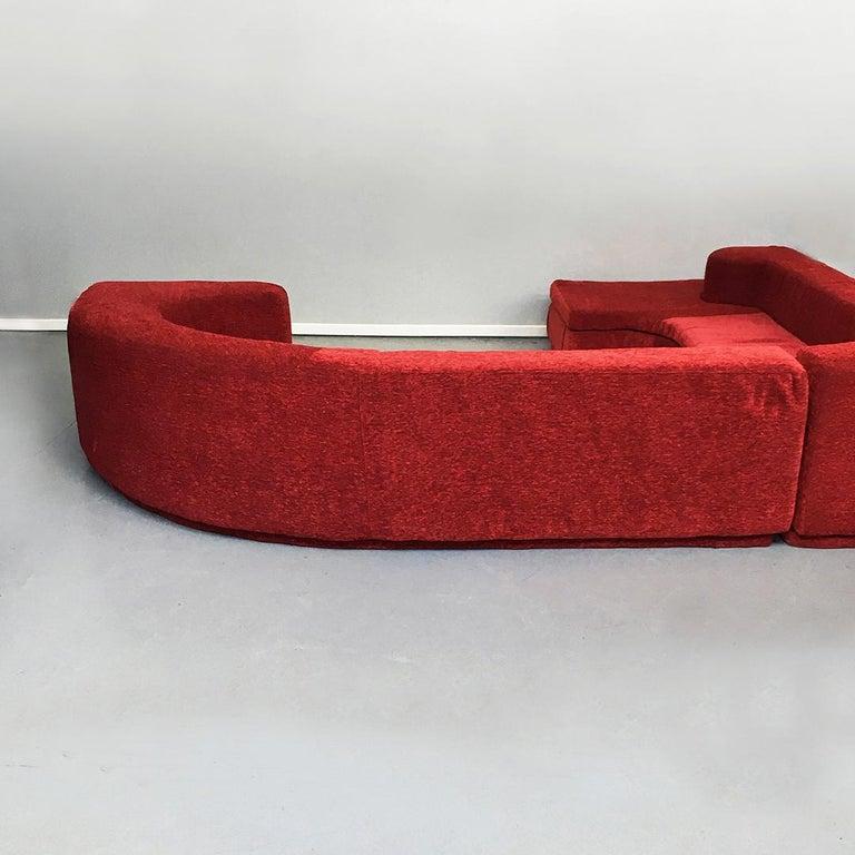 Cotton Italian Lara Modular Sofa by Pamio, Massari and Toso for Stilwood, 1968 For Sale